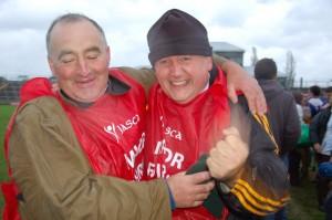 Brosna Gaels - Liam Hackett & Mel Ryan celebrate