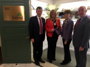 Billy Condon, Tourism Ireland; Sinéad Dooley, Offaly County Council; Alison Metcalfe, Tourism Ireland; and Declan Kirrane, Offaly County Council.