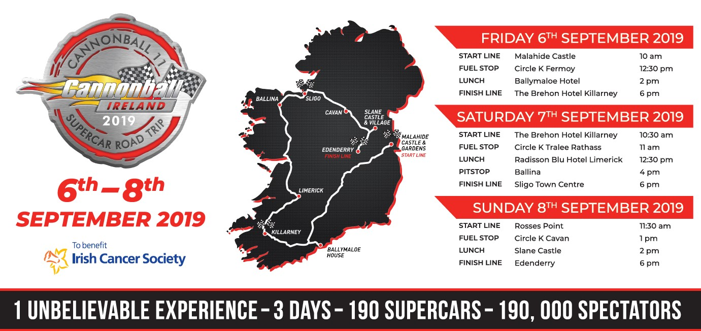 It's the Final Countdown to Cannonball - Official route for spectators