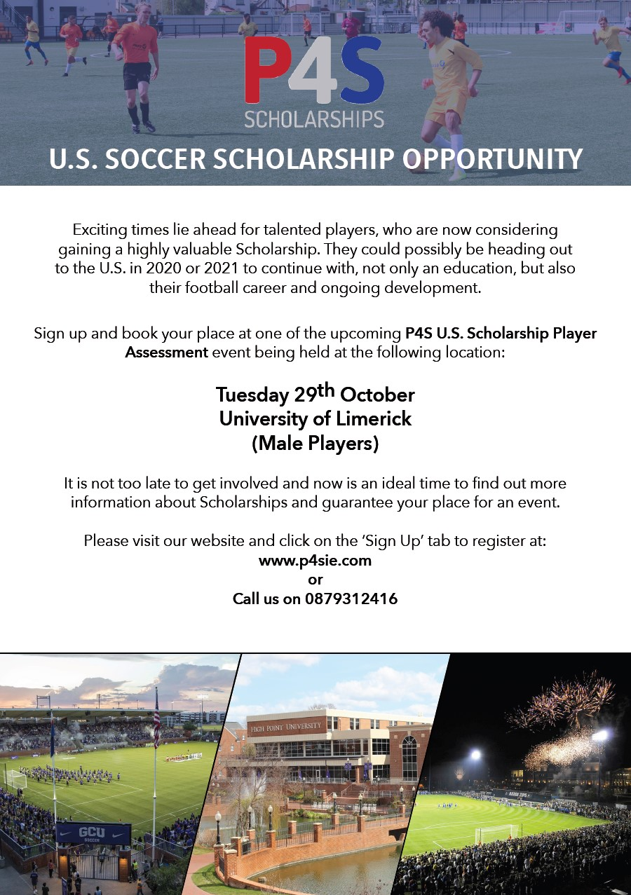 Limerick Male USA Soccer Scholarship Event