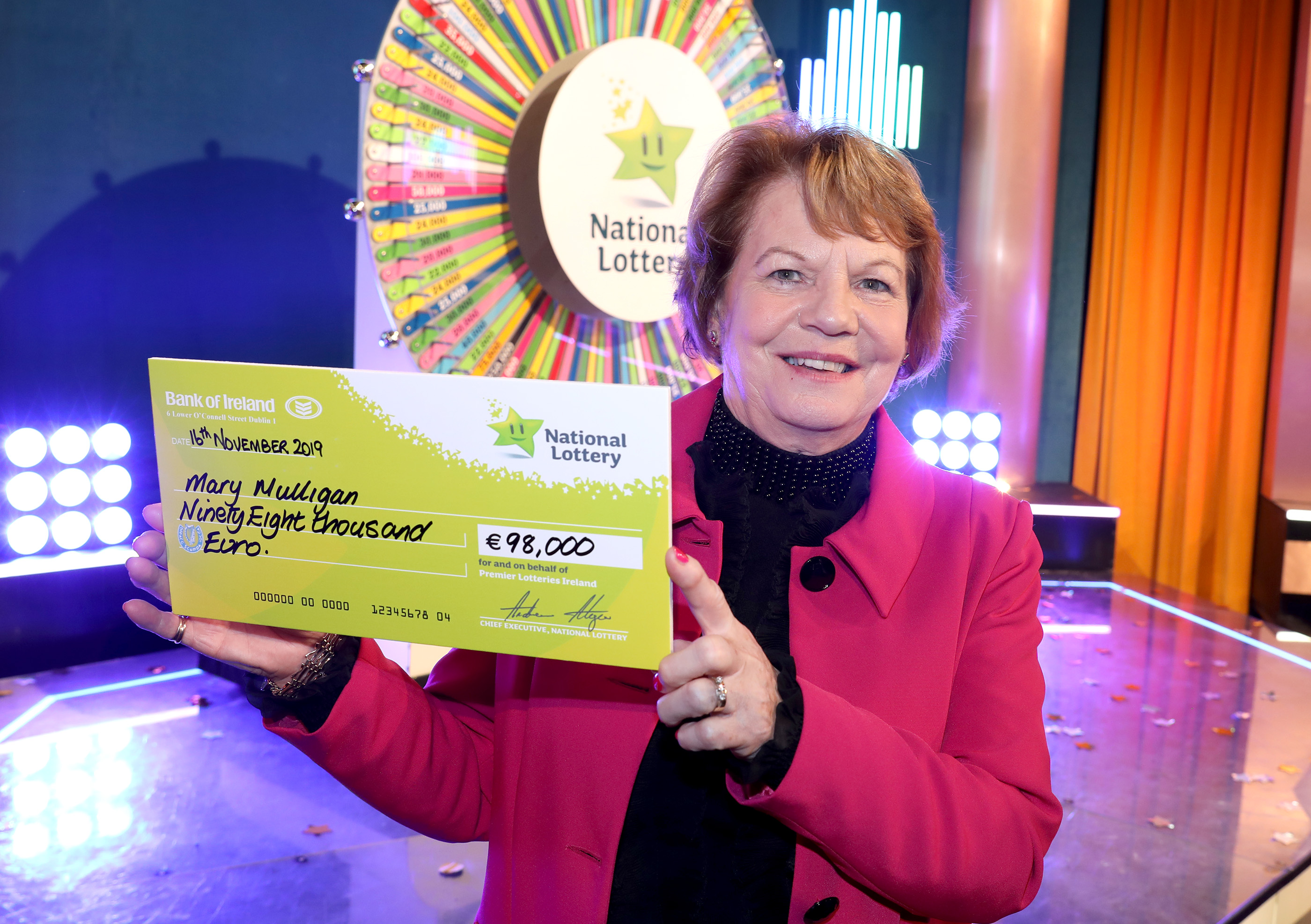 Offaly Woman Spins herself a €98,000 Fortune on Winning Streak TV Gameshow