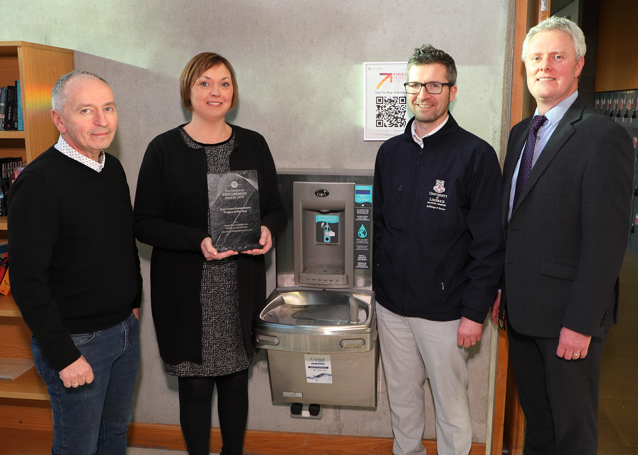 UL to remove seven million plastic water bottles a year from circulation on campus