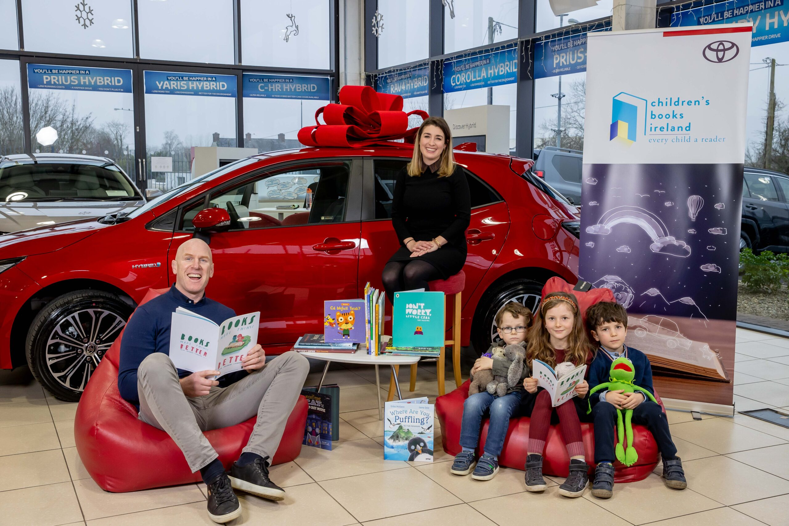 Toyota Ireland supports Children's Books Ireland to gift 2,000 books to vulnerable children this Christmas