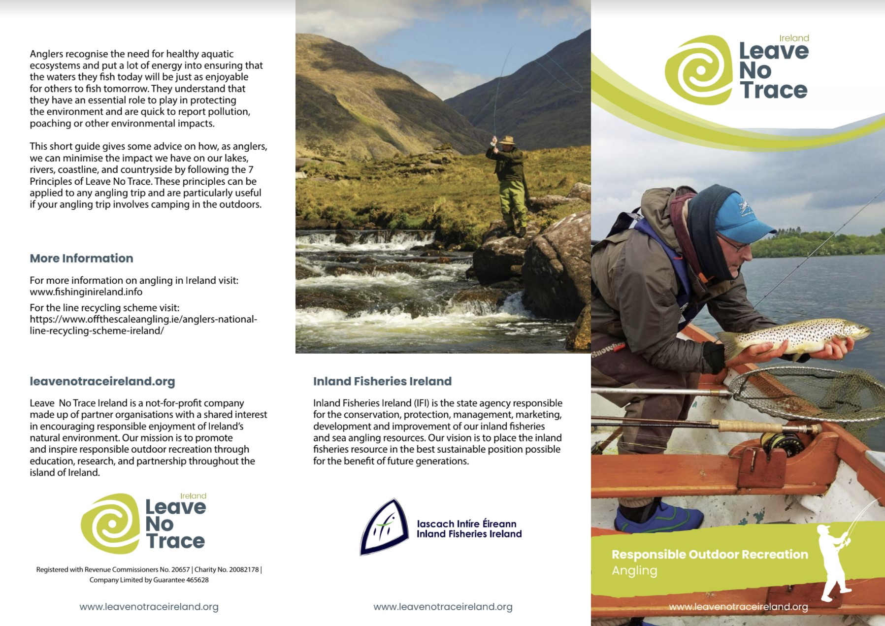 Inland Fisheries Ireland launches responsible outdoor recreation guide for anglers with Leave No Trace Ireland