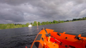 Lough Derg RNLI launched to assist 2 people on a 32ft cruiser aground by the entrance to Terryglass Harbour, at the northern end of Lough Derg.